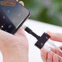 Torras двойной адаптер для iPhone X 8 7 преобразователь зарядки аудио 2 в 1 адаптер для iphone 8 7 плюс x Зарядное устройство Кабель-адаптер