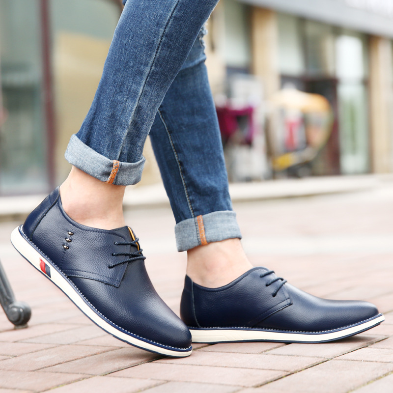 Casuais Brown Oxford Qualidade Up Outono Alta Dos Yellowish blue black Sapatos Nova 2018 Homens Baixos Genuíno Moda Da Couro Trabalho Sapato De Lace 4qtRnzw6