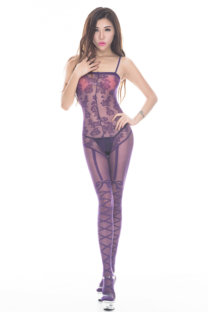 Open Crotch Nylon Body Stocking