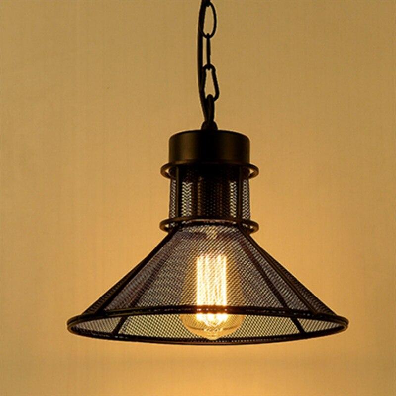Kovový přívěsek Light Loft Anti que Barn Deštník Grid Závěsná lampa Vintage American Industrial Lighting