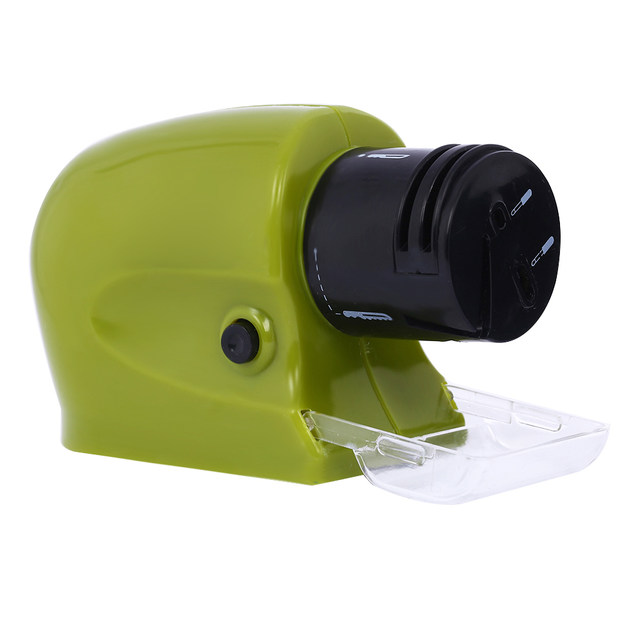 Mini Automatic Electric Knife Sharpener 2 Stage Multifunctional Cordless Power Sharpening Kitchen Knives Grinding Tool