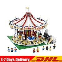 With Motor Clone Legoed 10196 LEPIN 15013 3263Pcs City Street Grand Carousel Model Building Kits Set Blocks Brick Toy