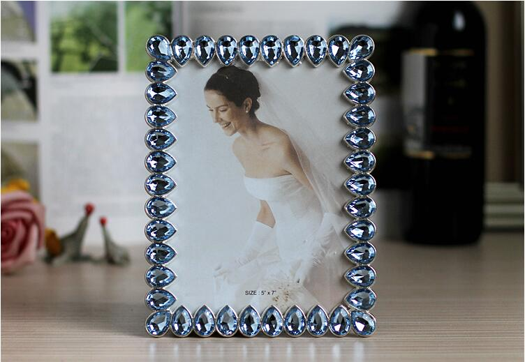 Water drop drill metal frame for picture American style family photo frame birthday present wedding Decoration XC048