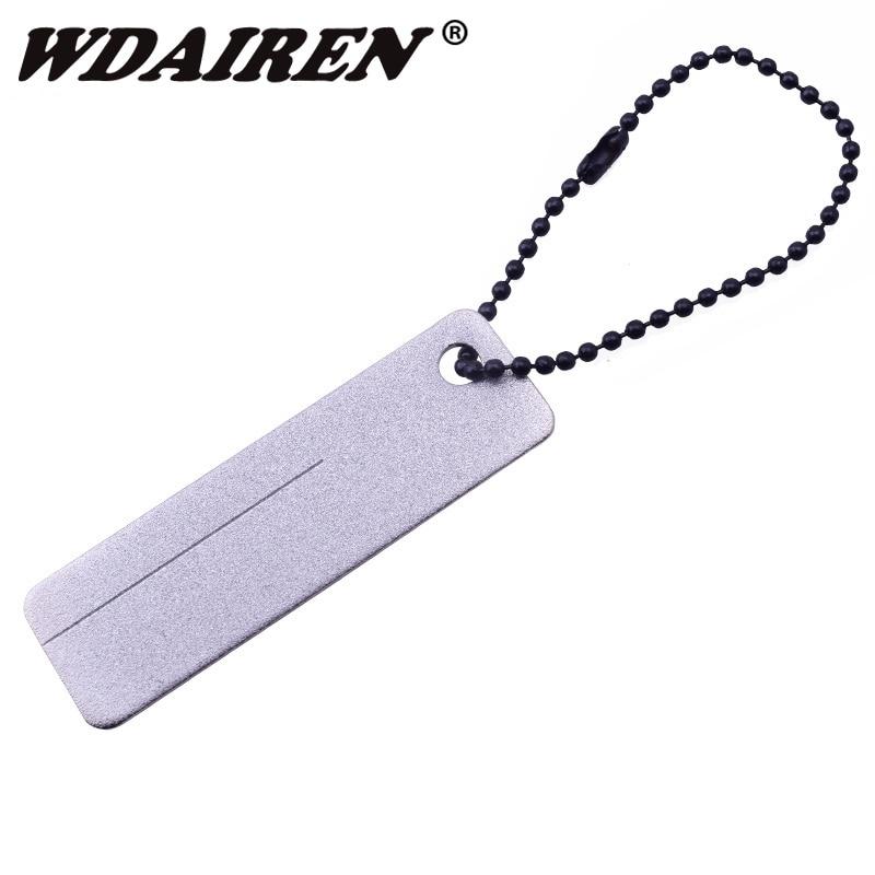 Mini Outdoor Sharpener Super-hard Diamond Sharpening Whetstone Tool Portable EDC Equipment For Grinding Hooks Manicure ISP