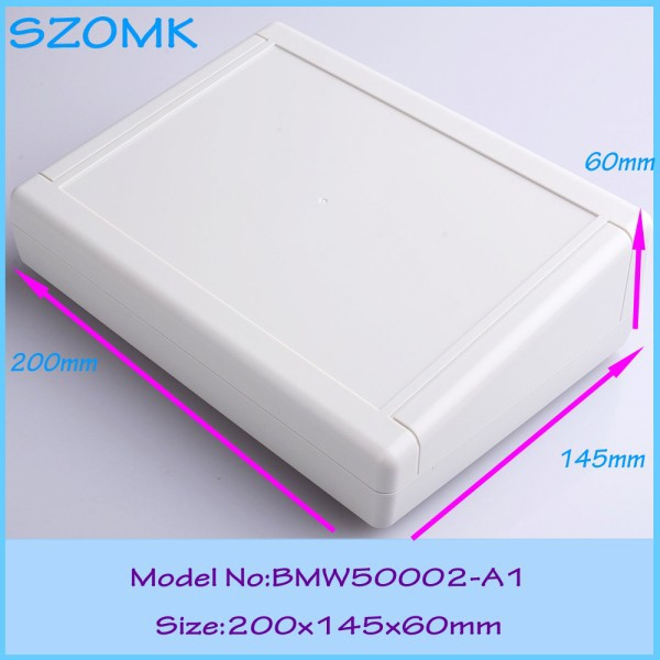 10 pcs/lot custom plastic enclosure wall mounting plastic enclosures for electronics abs diy instrument case  housing 2 pcs lot free shipping wall mounting plastic abs enclosure for pcb electronics device 110 70 38mm