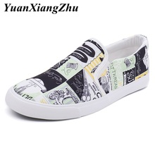 2019 fashion mens casual shoes hip hop men canvas shoes for men loafers comfortable breathable slip on shoes man flats footwear цены онлайн