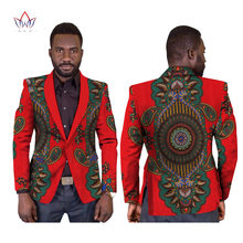 Фотография Customized Print Elegant Blazers Men Africa Clothing Style Suit Coat Fashion Slim WYN169
