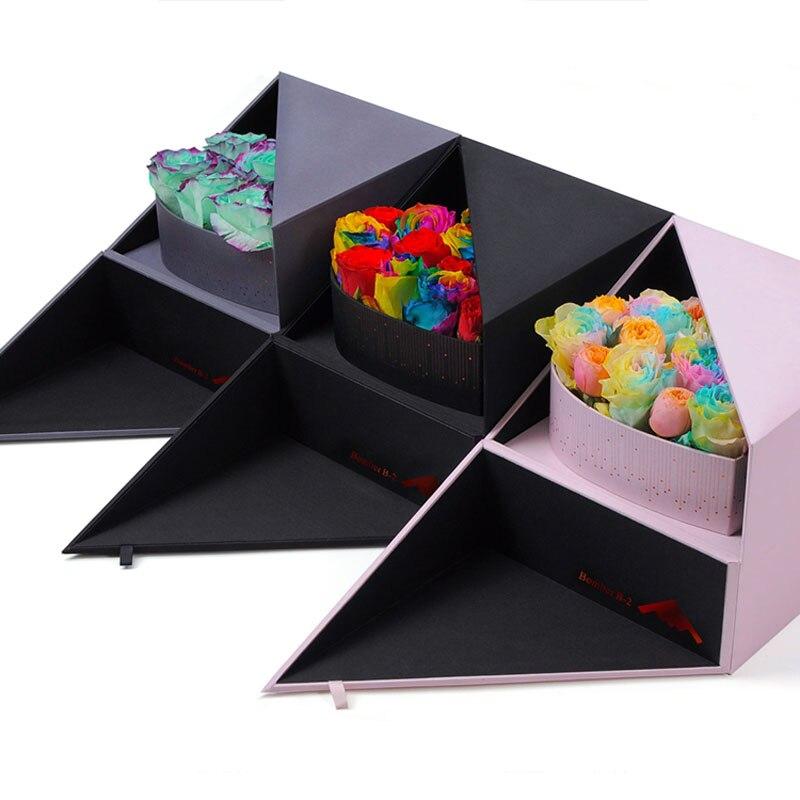 Double ouvert avec boîte coeur Surprise boîte cadeau envoyer avec paquet cadeau sac créatif fleur emballage boîte 24x24x20 CM bois conseil