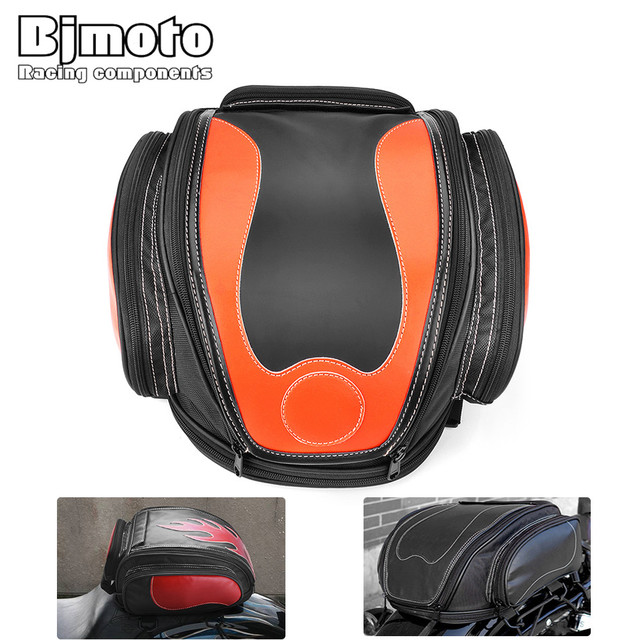 d7262970 US $76.25 18% OFF|Bjmoto universal Motorcycle saddlebags racing cycling  saddle bag helmet Tank Bag Backpack for motocross motorbike scooter Helmet  on ...