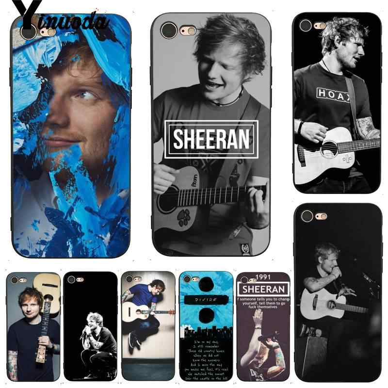 Ed Sheeran Yinuoda Good-looking Coque Shell Caso de Telefone para o iphone 7X6 8 6S Plus X 5 5S SE XS XR11 11pro 11promax