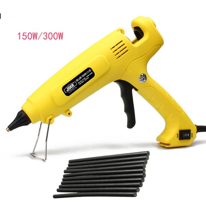 150W 300W Hot Melt Glue Gun EU Plug Adjustable Professional Copper Nozzle Heater Heating Wax 11mm Glue Stick DIY Hand Tools 100w temperature adjustable hot melt glue gun 220v