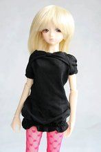 wamami 108 Black Clothes Dress 1 4 MSD DOD BJD Dollfie