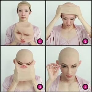 Image 2 - Roanyer May Masken Crossdresser Shemale Masken with Realistic Skin Silicone Masken for Transgender Male Drag Queen Cosplay