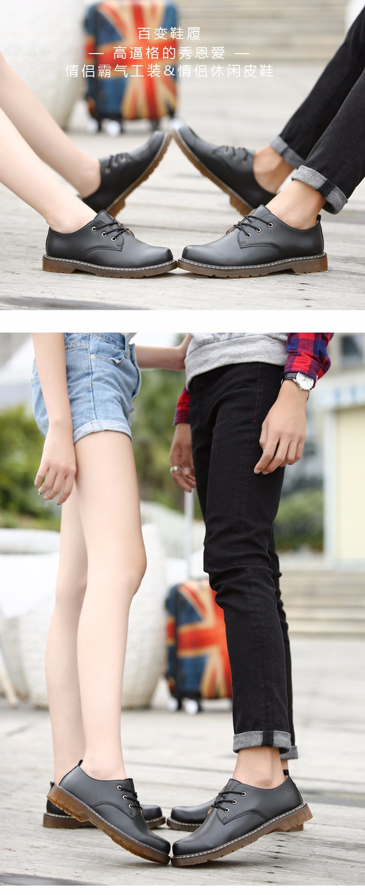 KUYUPP Fashion England Genuine Leather Shoes Women And Men Flats Oxfords Casual Lace Up Ladies Shoes Round Toe Men Loafers PX128 (15)