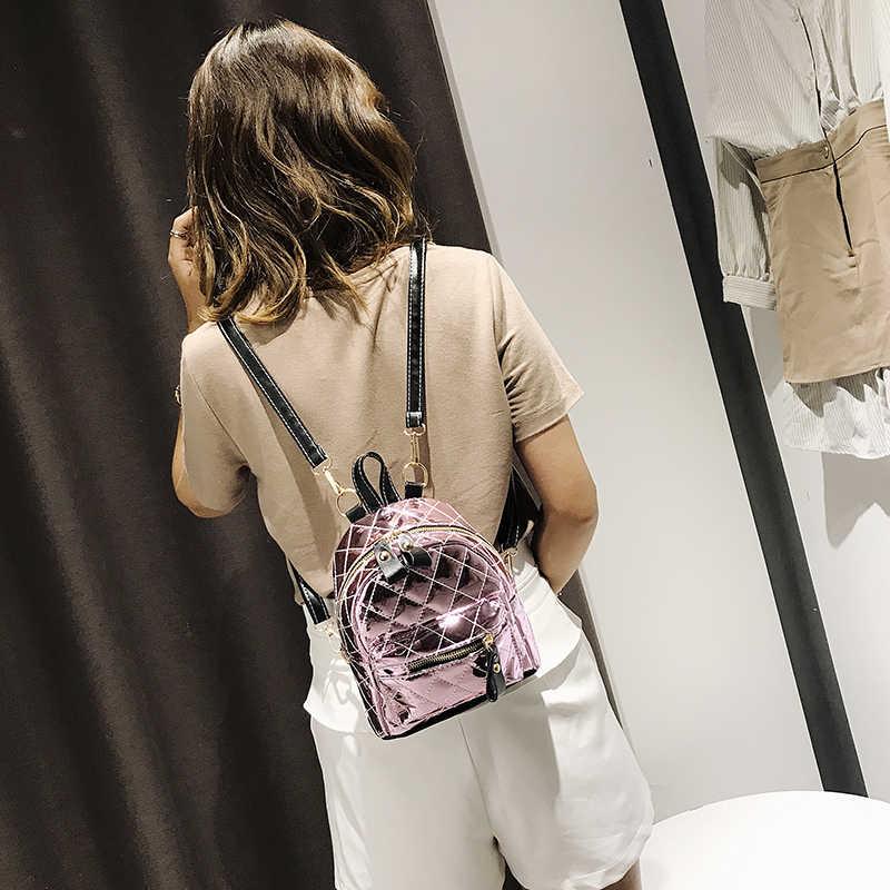 Клетчатый Блестящий женский рюкзак Лидер продаж модные повседневные сумки высокого качества женская сумка из искусственной кожи рюкзаки для девочек mochila