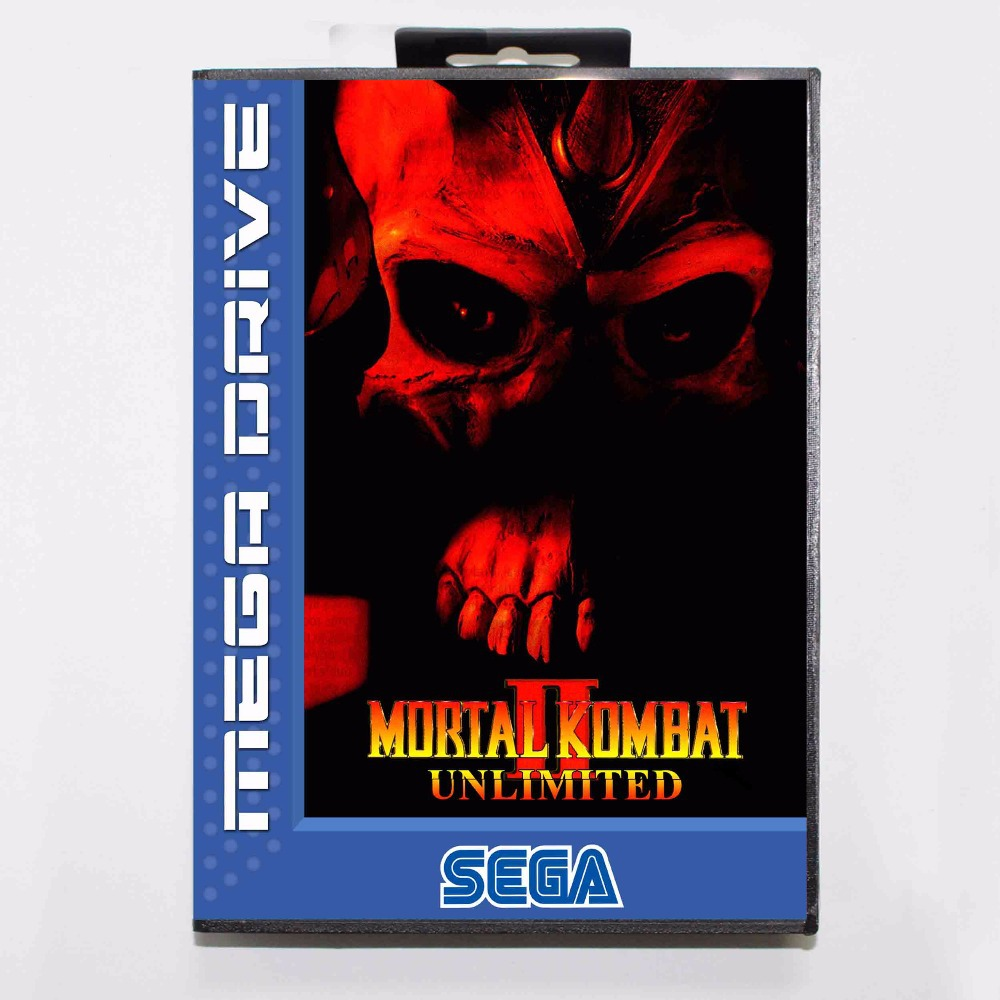 Mortal Kombat II Unlimited 16 bit MD Game Card With Retail Box For Sega Megadrive/Genesis