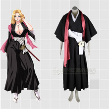 BLEACH Matsumoto Rangiku Cosplay Costume+scarf+belt