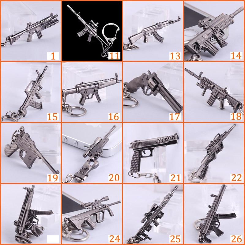 Novelty Counter Strike Senjata AK47 Keychain Untuk Pria CS PERGI - Perhiasan fashion - Foto 6