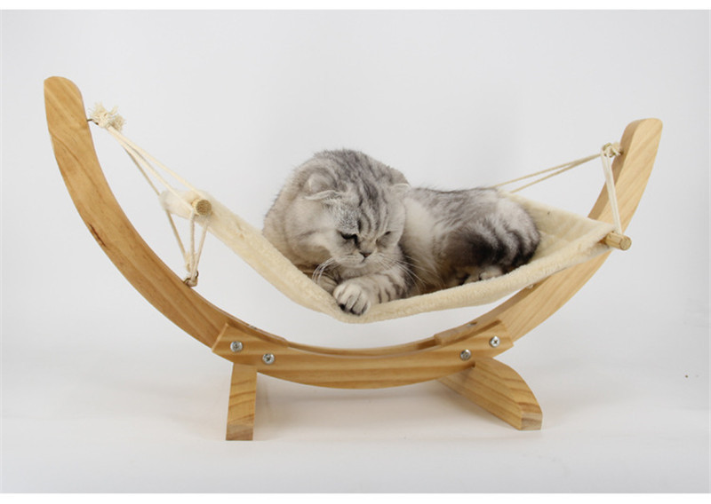 Hamac pour chat design en bois