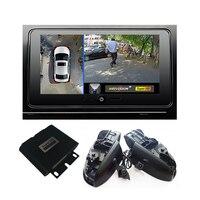 1080P 360 vista de pájaro rodean coche DVR grabar Monitor sistema todos cámara de visión trasera para Toyota Camry Reiz Crown Corolla