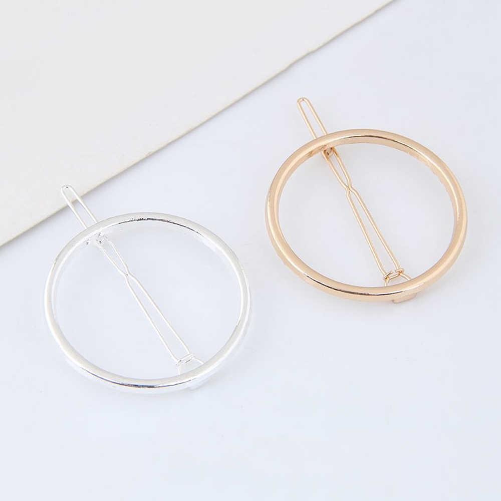 Новые модные круглые украшения для волос для женщин и девочек металлические круглые заколки для волос Свадебные аксессуары для волос