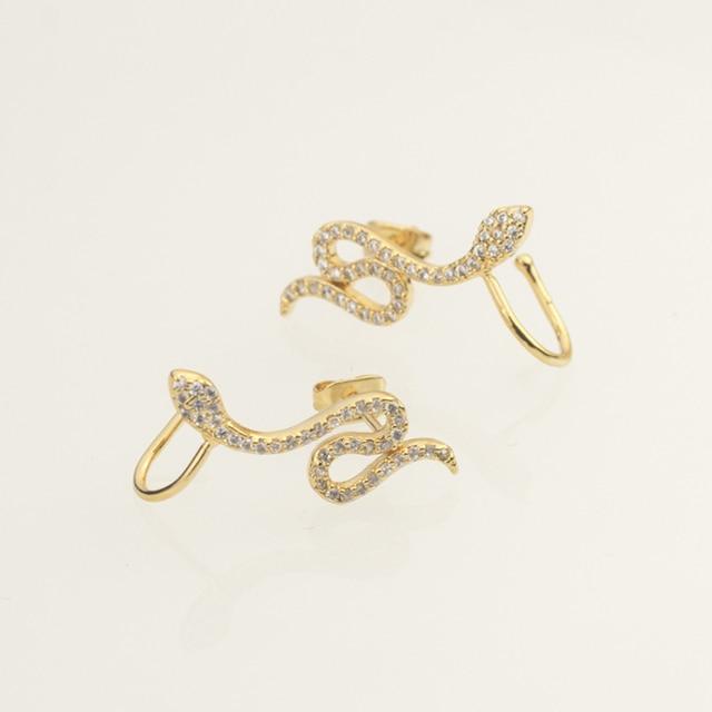 AAA Crystal Snake Earrings For Women Ear Crawler Pendientes Mujer Moda Gold Color Stud Earings Fashion.jpg 640x640 - AAA+ Crystal Snake Earrings For Women Ear Crawler Pendientes Mujer Moda Gold Color Stud Earings Fashion Jewelry For Girlfriend