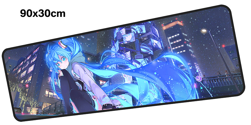 Hatsune Miku mousepad gamer 900x300X3MM gaming mouse pad large Personality notebook pc accessories laptop padmouse ergonomic mat