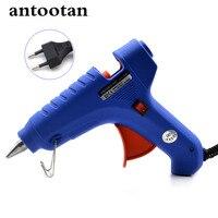 40W EU Plug Hot Melt Glue GunTemperature Tool Industrial Mini Guns Thermo Gluegun Applicator Free 1pc