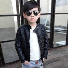 Детская кожаная куртка, модная куртка для мальчиков, детская куртка 6CT105