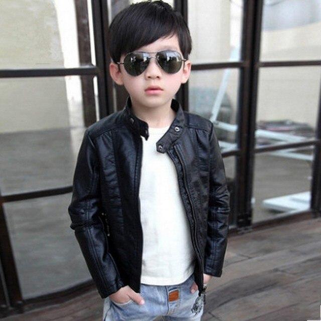 ילדים חדשים עור מעיל אופנה תינוק ילד מעיל Manteau Enfant Garcon ילדים מעיל 6CT105