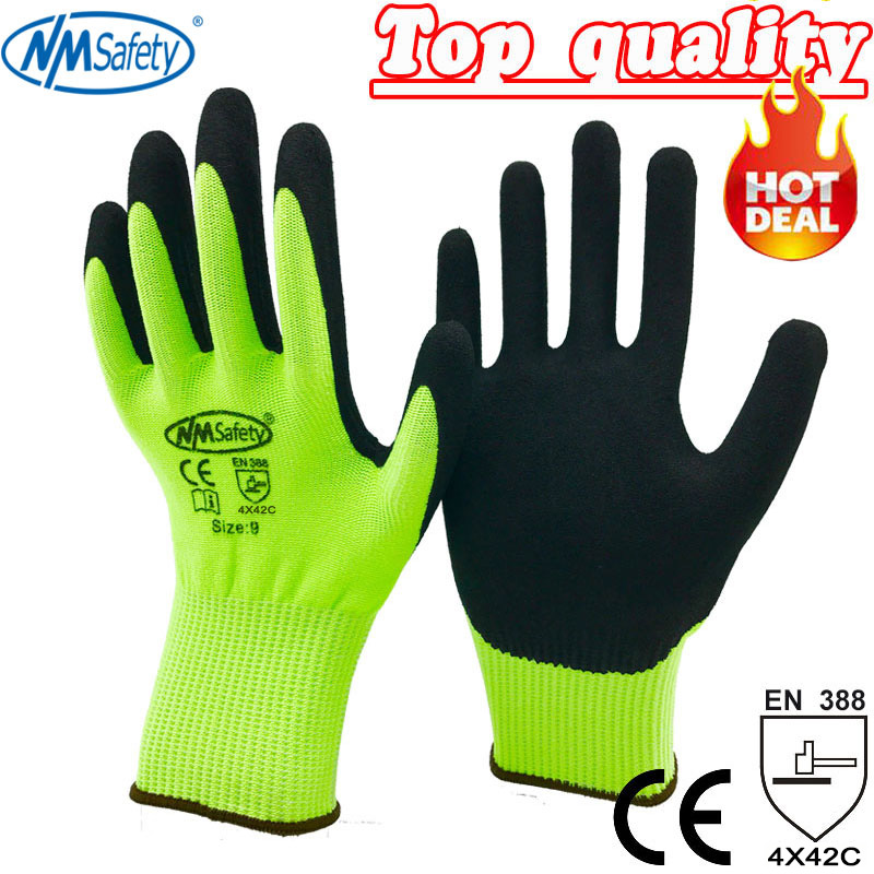 NMSafety Anti Cut arbejdshandsker Høj kvalitet Hot Sell CE Standard Cut Level 5 handsker