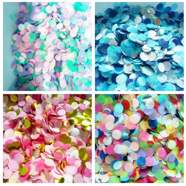 2.5cm 50g/bag Mixed Color Metallic Rose Gold Mini Round Confetti Dots Filling Balloons Baby Shower Wedding Engagement Decoration