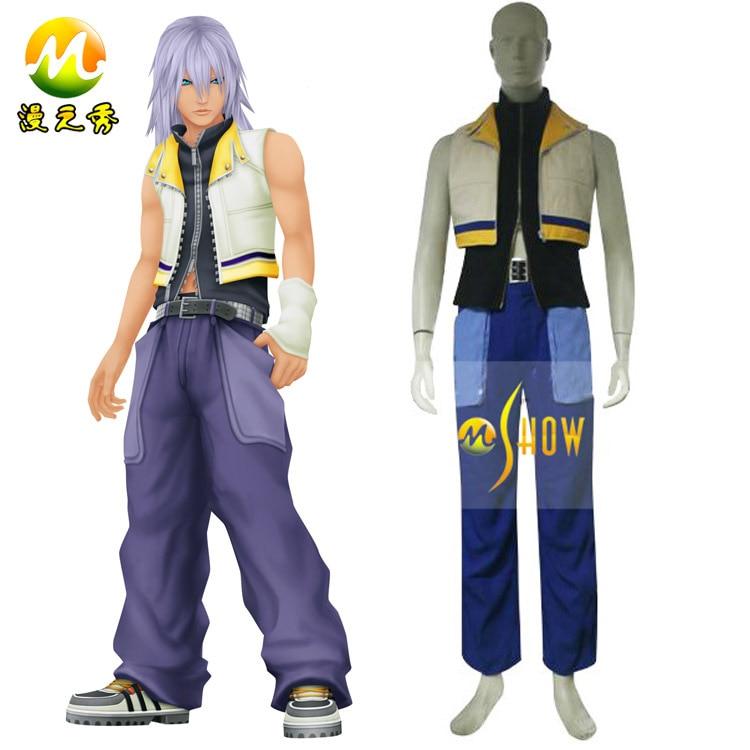 Anime cosplay Kingdom Hearts 2 Riku Cosplay costumes for
