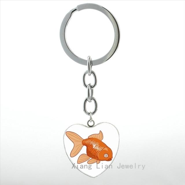 Tafree New Arrival Ryukin Goldfish Heart Pendant Keychain Women Cute Cartoon Mermaid With Goldfish Key Chain Ring Jewelry Hp360 Keychain Women Pendant Keychainwomen Keychain Aliexpress