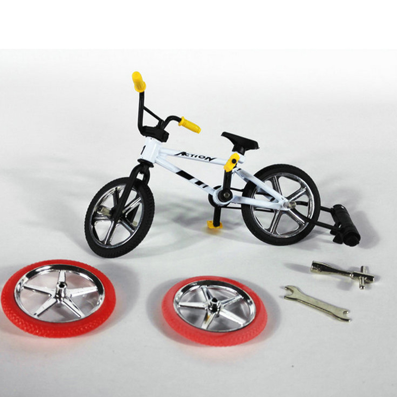 Mini Finger BMX Bicycle Flick Trix Finger Bikes BMX Bike Model Toys Mini Finger Bike Gadgets Novelty Gag Toys For Kids