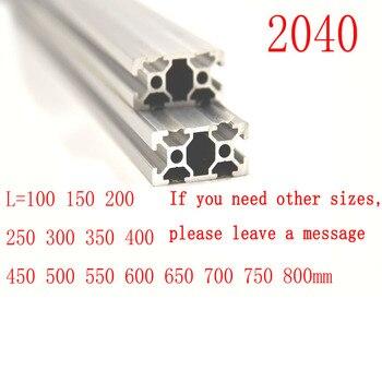 3D Drucker Teile 2040 Aluminium Profil Europäischen Standard Eloxiert Linear Schiene Aluminium Profil 2040 Extrusion 2040 cnc teil-in Eckverbinder aus Heimwerkerbedarf bei
