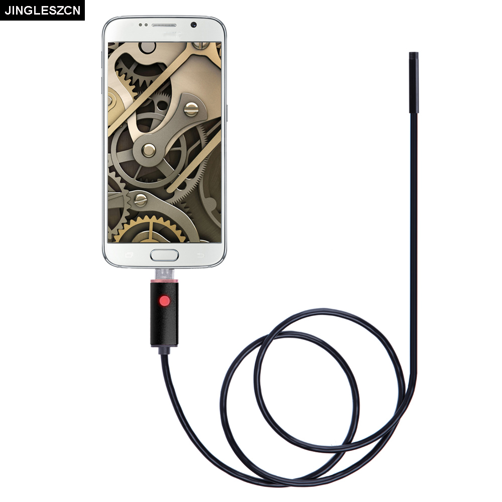 JINGLESZCN 2 In 1 USB Endoscope Cam 8mm Lens Dia 2m 5m 10m Waterproof IP67 Inspection Borescope Snake Camera For Windows Android eyoyo nts200 endoscope inspection camera with 3 5 inch lcd monitor 8 2mm diameter 2 meters tube borescope zoom rotate flip