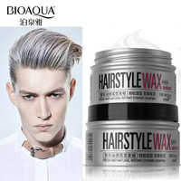 BIOAQUA Brand Silver Color Grey Hair Wax Hairstyle Shaping Pomades Professional Styling Dye Cream Temporary Hair Coloring