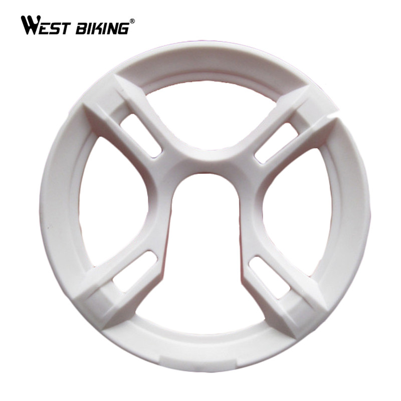 WEST BIKING Bike Bicycle Chainwheel Plate Cycle Chain Cover Crankset Protective Chain Wheel Cover Guard Bicycle Bike Accessories outdoor cycling bike neoprene chain stay protector guard cover chain guards bike cover dustproof bicycle accessory