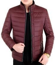 2017 New Arrival Men's Winter Jacket Slim Fit Cotton-padded Jackets Stand Collar Warm Quilted Zipper Coats Jacket Outwear