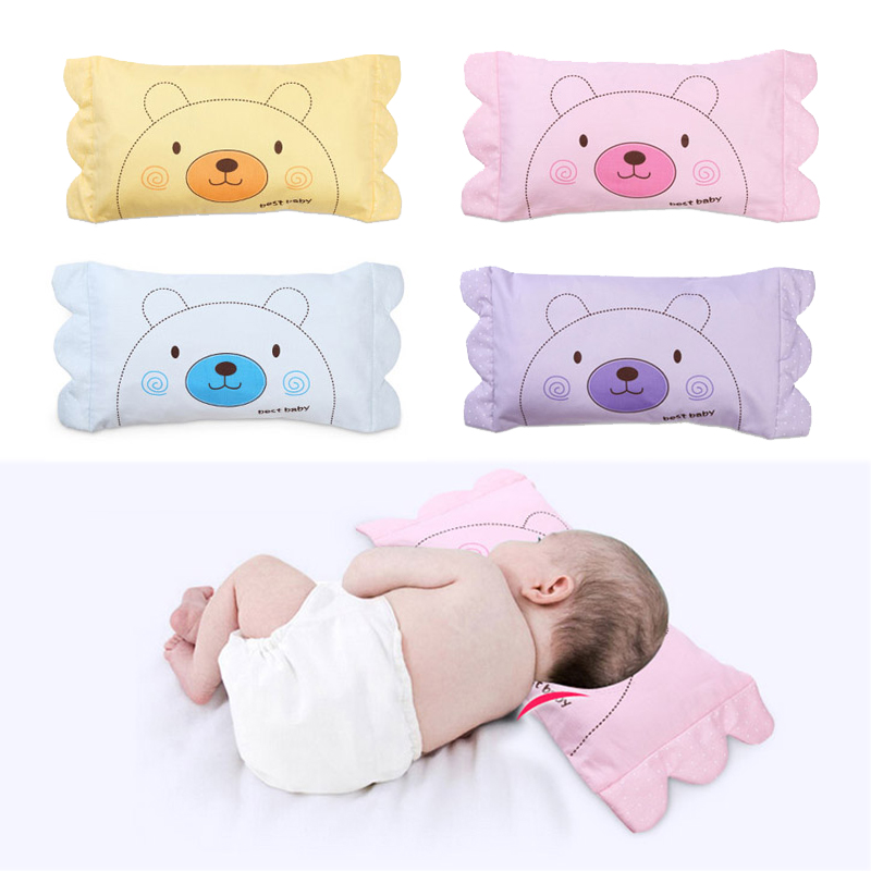 Newborn Baby Pillow Infant Lovely Bear Character Soft Rectangle Pillows Toddler Cotton Neck Protection Weeping Willow 0-4Year