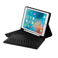 Case for iPad 9.7 2018 W Pencil Holder Wireless Bluetooth 3.0 Keyboard Auto Sleep Wake Case for New iPad 2018 9.7 A1893 A1954