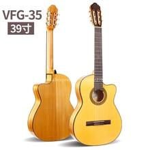 Guitare Flamenco acoustique professionnelle de 39 pouces avec corps en épicéa/Aguadze, guitare classique