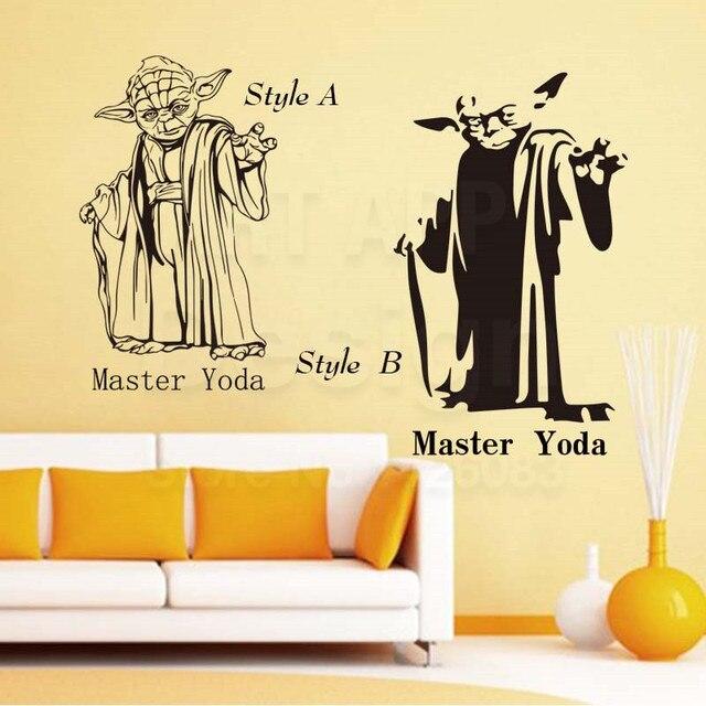 Art design cheap home decoration vinyl Star War Master Yoda ...