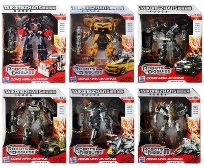뜨거운 판매! 변환 장난감 변형 로봇 자동차 brinquedos 액션 피규어 클래식 장난감 어린이 선물 원래 상자