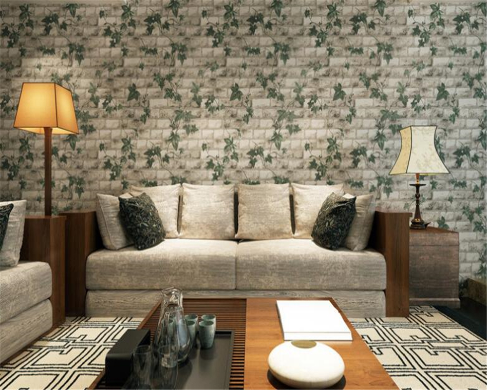 beibehang pvc American Village Stereo Brick Seagate Tiger papel de parede 3d Wallpaper Restaurant Living Room Background Balcony in Wallpapers from Home Improvement