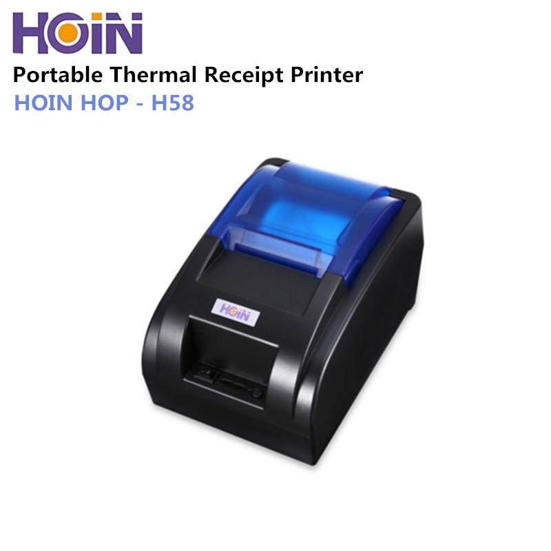 HOIN HOP-H58 USB/Bluetooth/Wifi Trésorerie Thermique Réception Imprimante POS Impression Instrument Soutien Dropshipping