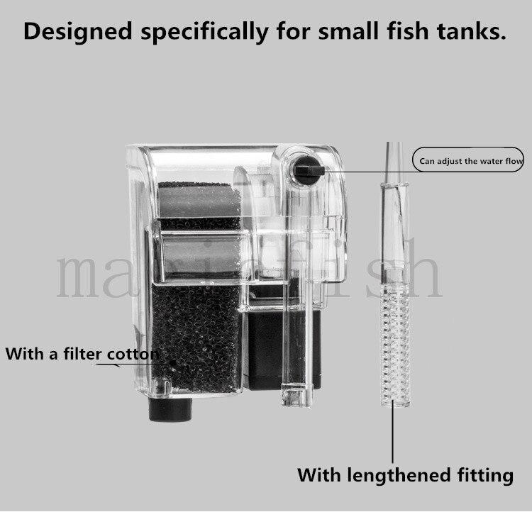 110-240 в мини-аквариумный фильтр Внешний, повесить фильтр, Кислородная установка-супер для аквариумных аксессуаров
