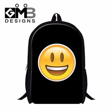 Funny Expression backpacks for teenage girls,Cute School Bags for Children,Polyester Shoulder Mochila for Primary Students kids