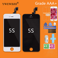 YWEWBJH 10Pcs Lot Test AAA LCD Touch Screen For 5S No Dead Pixel Spots Display Assembly